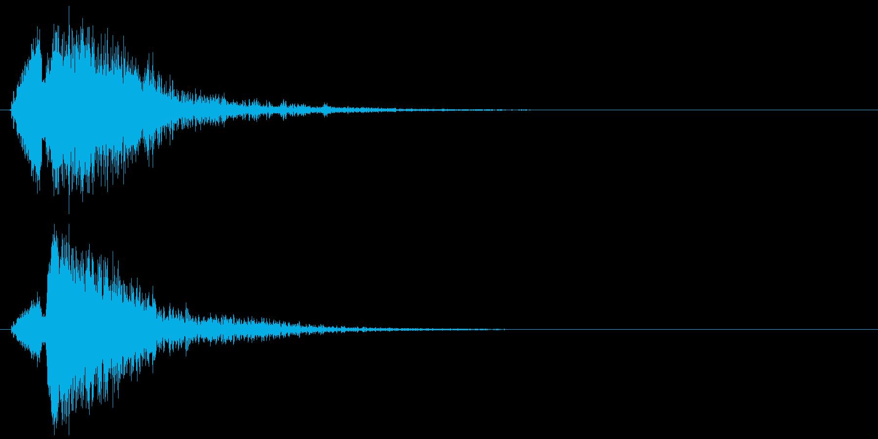 インパクト、衝撃、ヒット音です。『トゥ…の再生済みの波形