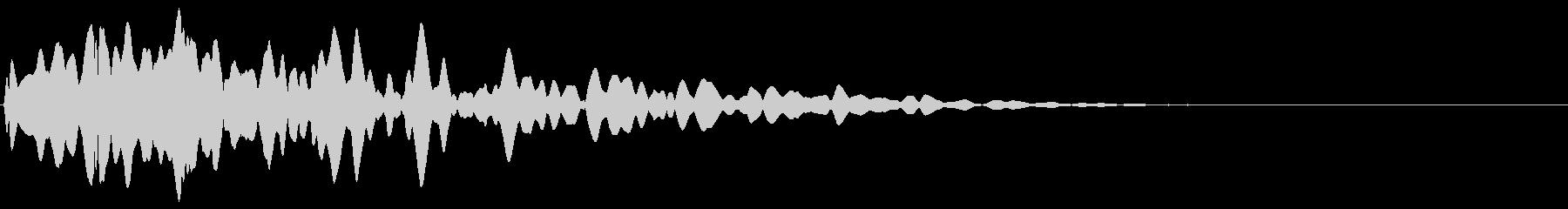 パン:閃いた時の音2の未再生の波形