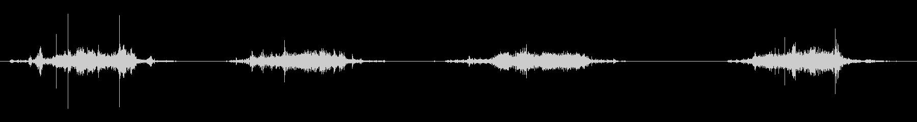 ASMR 重いものを引きずる音の未再生の波形