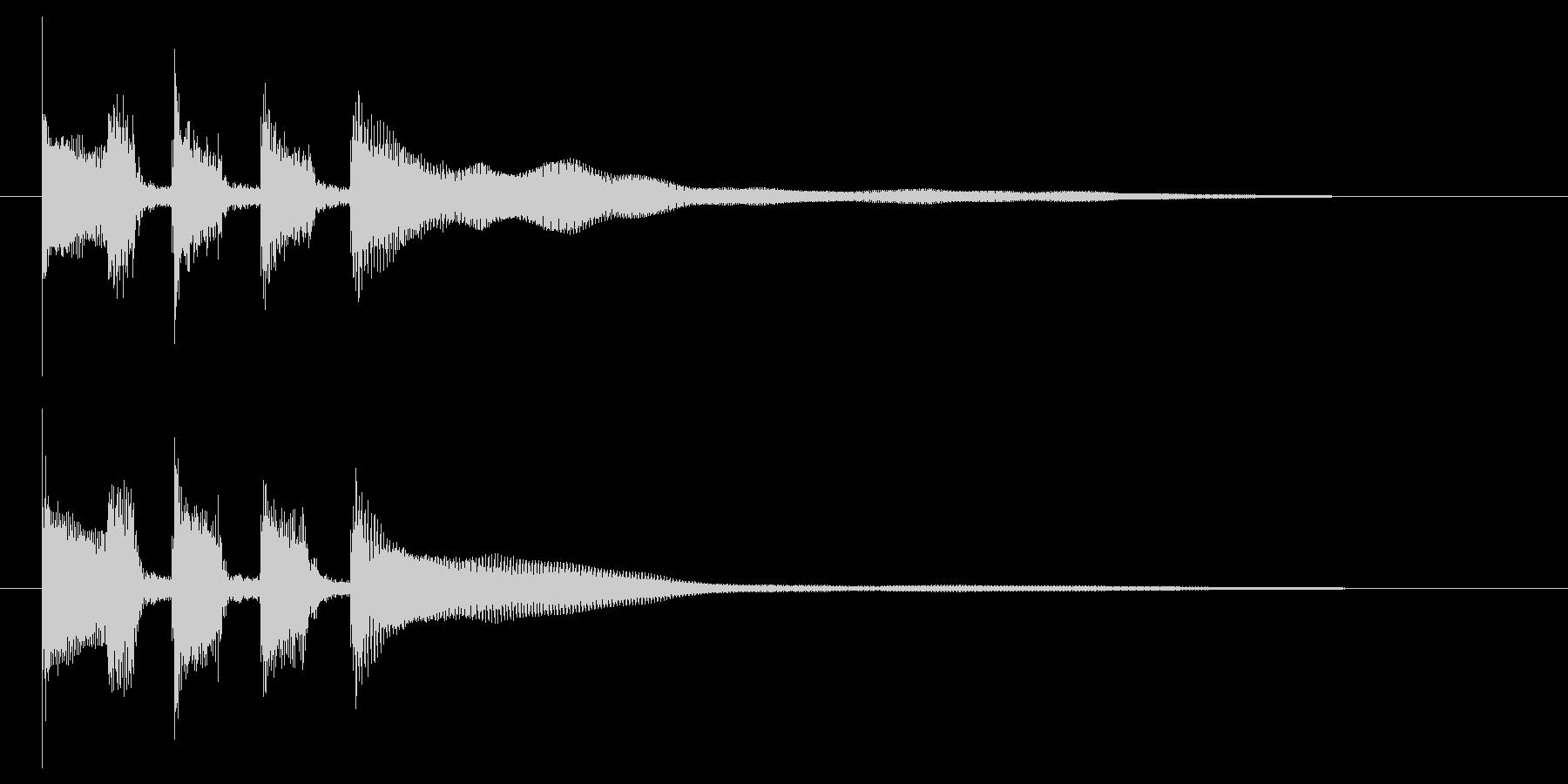 OP向け 跳ね感のあるギターカッティングの未再生の波形