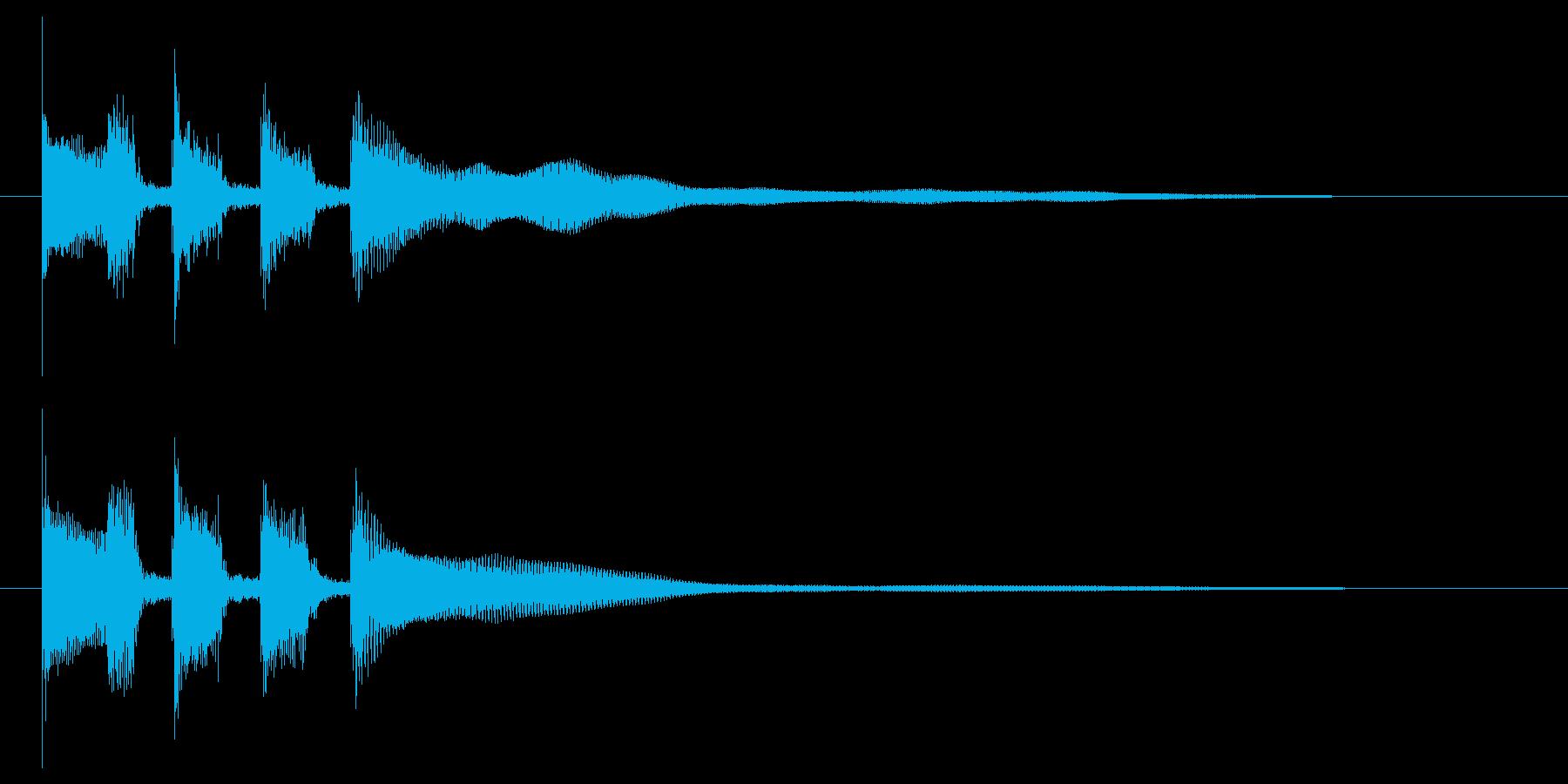 OP向け 跳ね感のあるギターカッティングの再生済みの波形