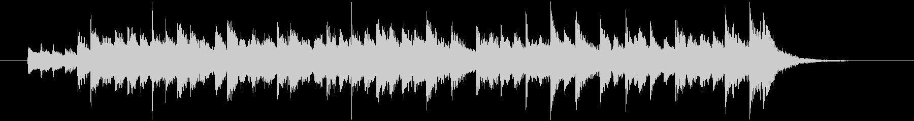 ハープの音色、ファンタジックなジングルの未再生の波形