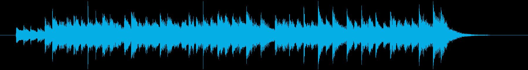 ハープの音色、ファンタジックなジングルの再生済みの波形