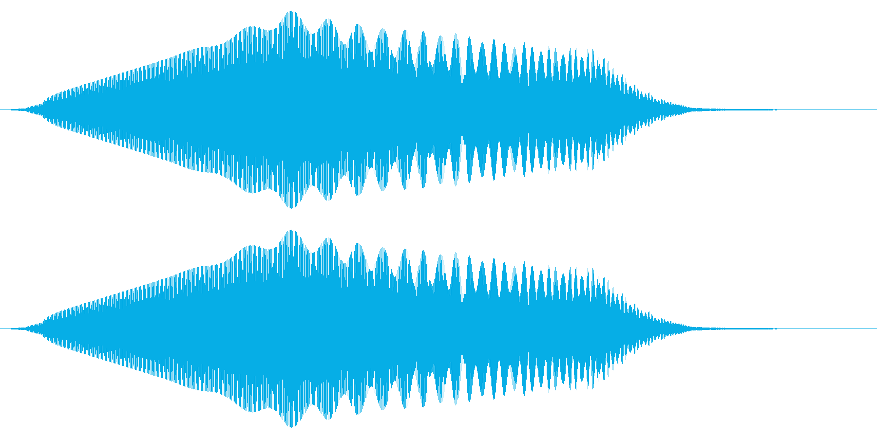 「ぷゎー」「ぽぃー」などの擬音です。「…の再生済みの波形
