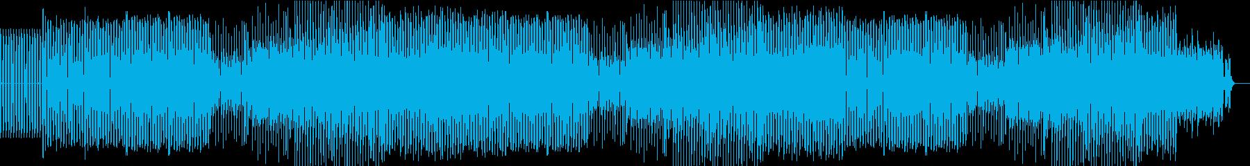 軽快なテクノ系EDMの再生済みの波形