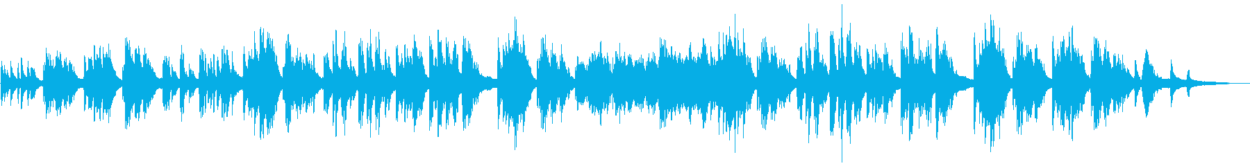 温かいイメージのピアノソロの再生済みの波形