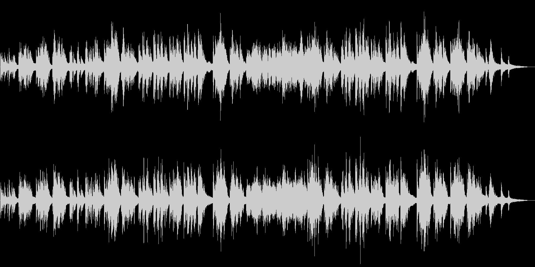 温かいイメージのピアノソロの未再生の波形