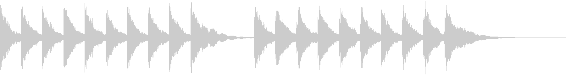 シンプルな鐘の音の開演ベルの未再生の波形