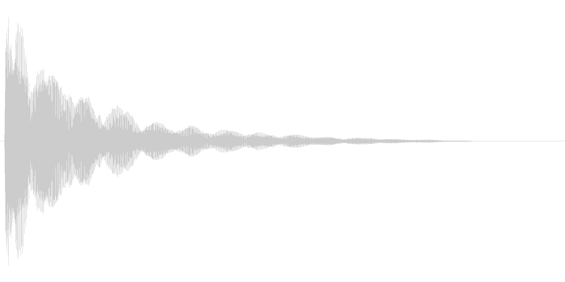 コミカルなバネのような効果音(low)の未再生の波形