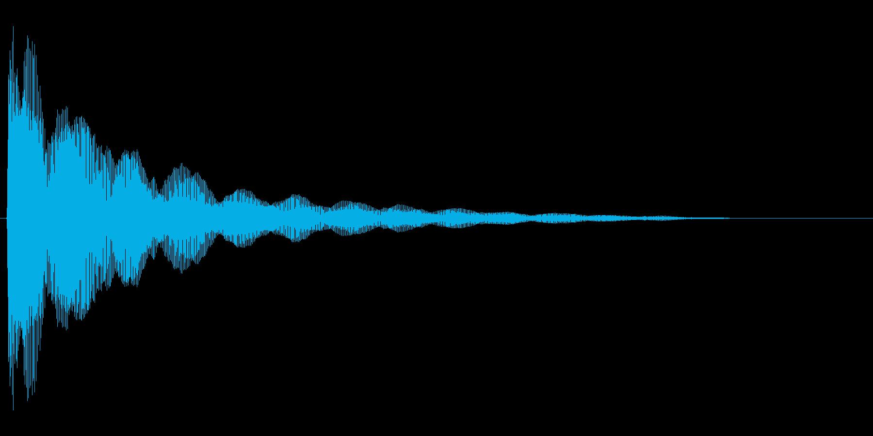 コミカルなバネのような効果音(low)の再生済みの波形