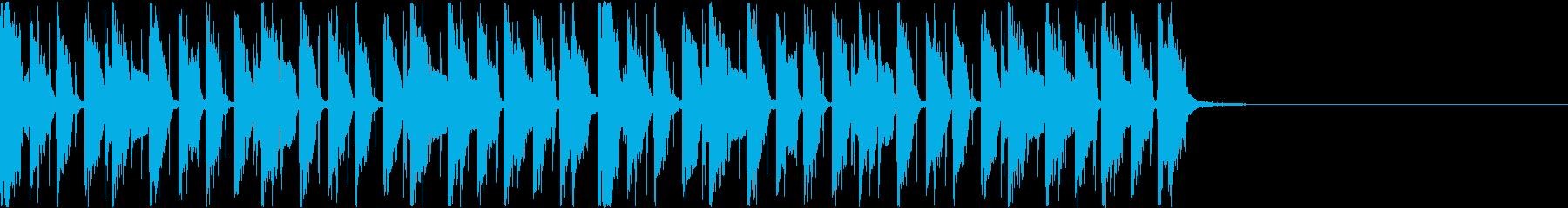 かっこいいファンクギターのジングル2の再生済みの波形