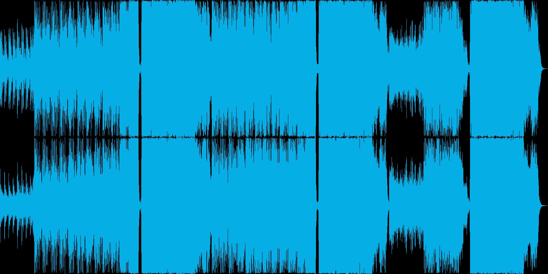 エレクトロサウンド+バンドの歌ものの再生済みの波形