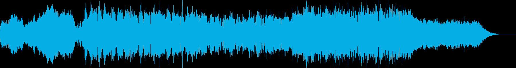 ドキュメンタリー系影のある短めOP風の再生済みの波形