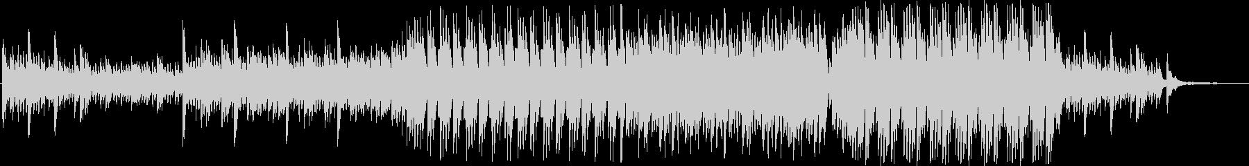 ゆったりとした雰囲気の4台ピアノ曲の未再生の波形