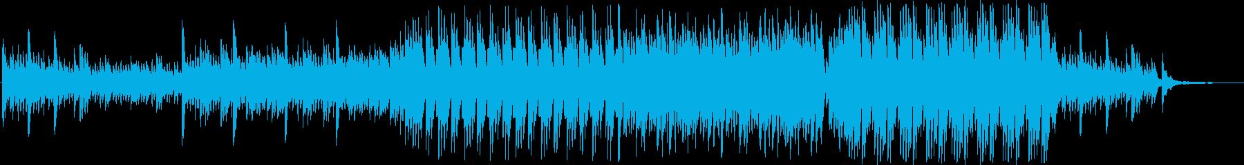 ゆったりとした雰囲気の4台ピアノ曲の再生済みの波形