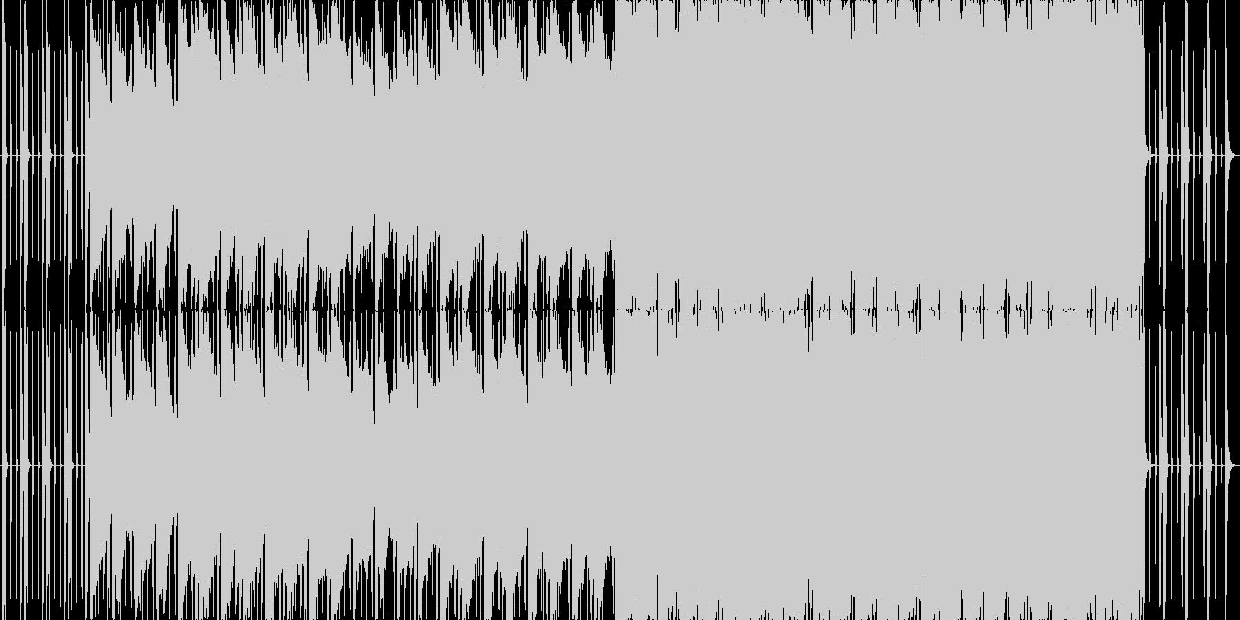 ダイナミックで破壊力あるメロディーの未再生の波形
