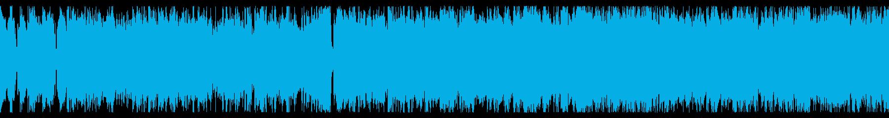 ループ素材 ポップで軽快なチップチューンの再生済みの波形