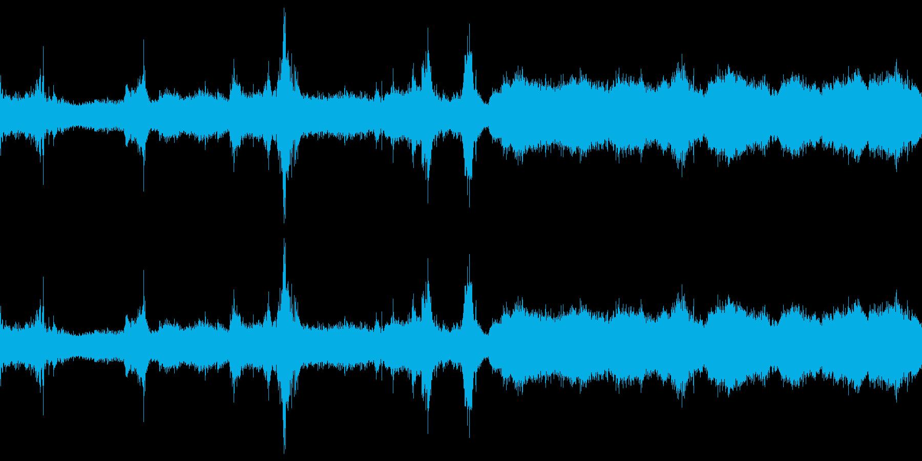 洞窟の波の再生済みの波形