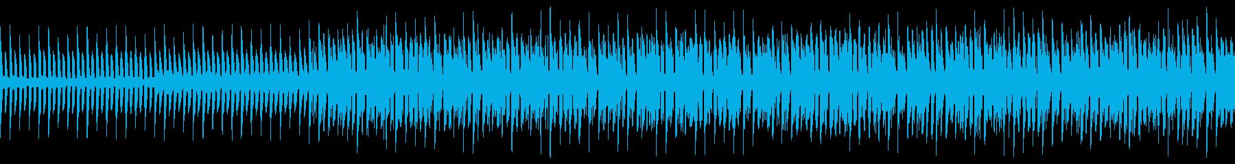 琴 切ない 和風4つ打ちBGM ループの再生済みの波形