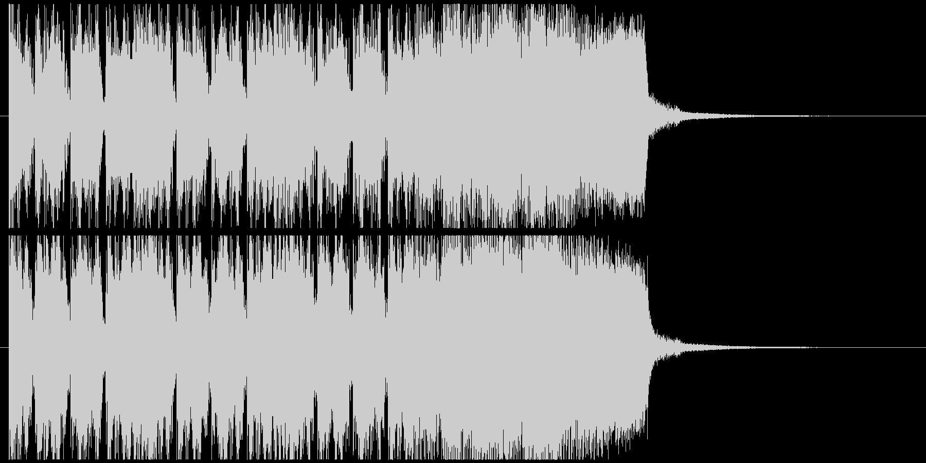 ハードロックサウンドのジングルの未再生の波形