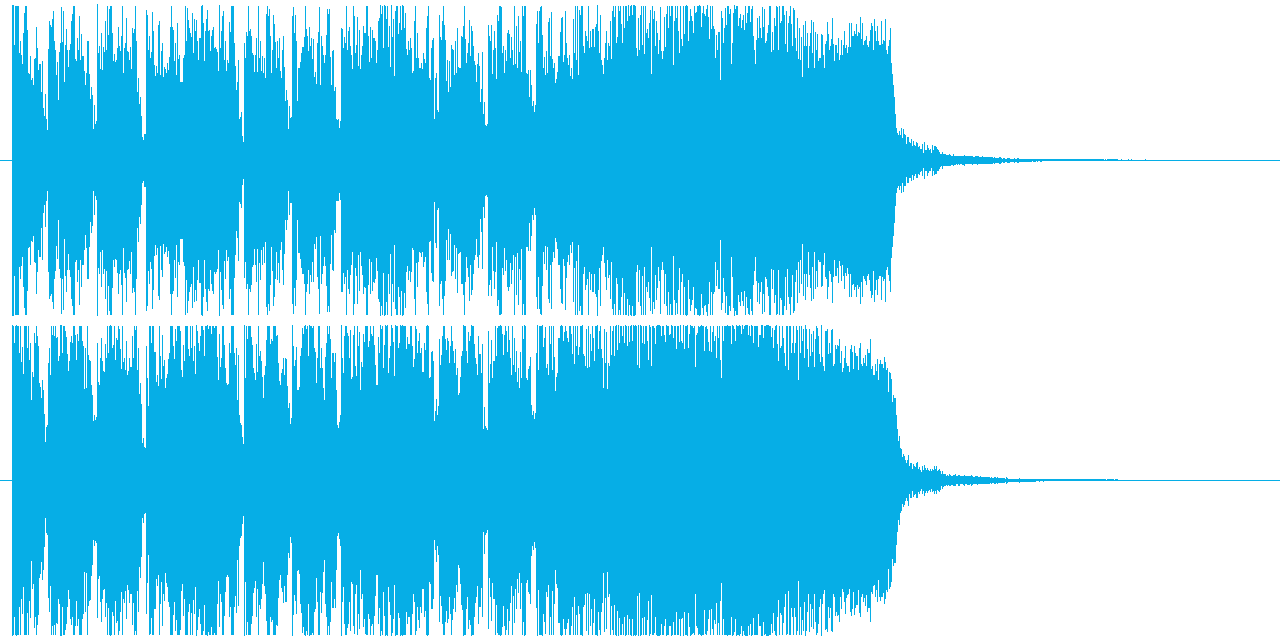 ハードロックサウンドのジングルの再生済みの波形