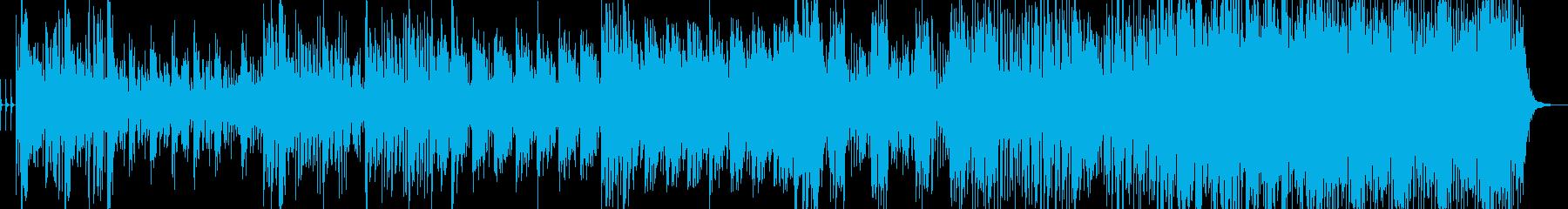 ジャズの要素が入ったドラムンベースの再生済みの波形