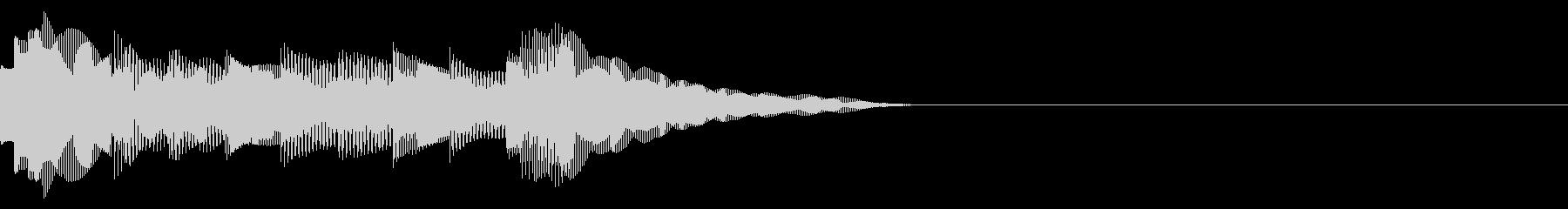 オルゴール風決定音の未再生の波形