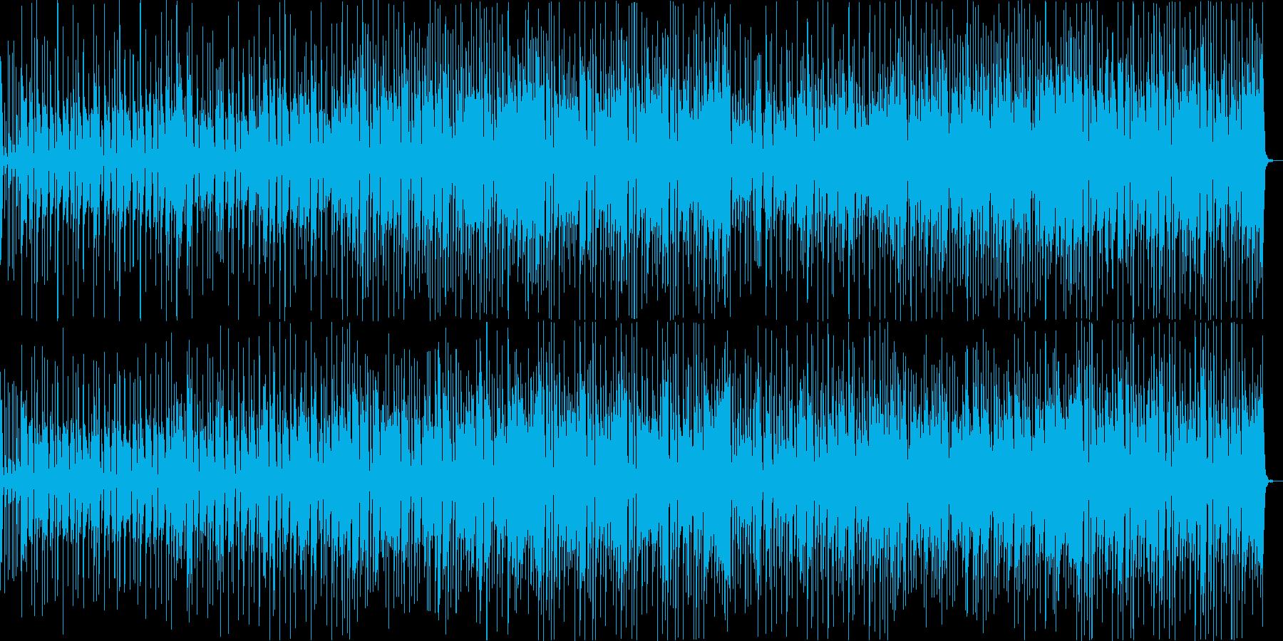 ゆったり楽観的な音楽トラックの再生済みの波形