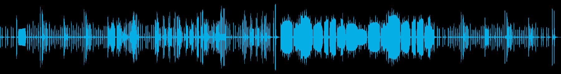 リコーダーのかっこうワルツ(ループなし)の再生済みの波形