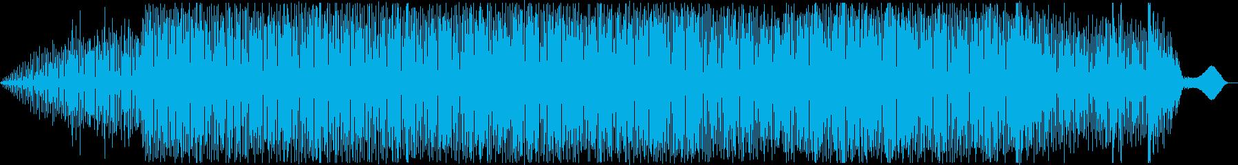 ゆったり穏やかなテクノ(アナログシンセ)の再生済みの波形