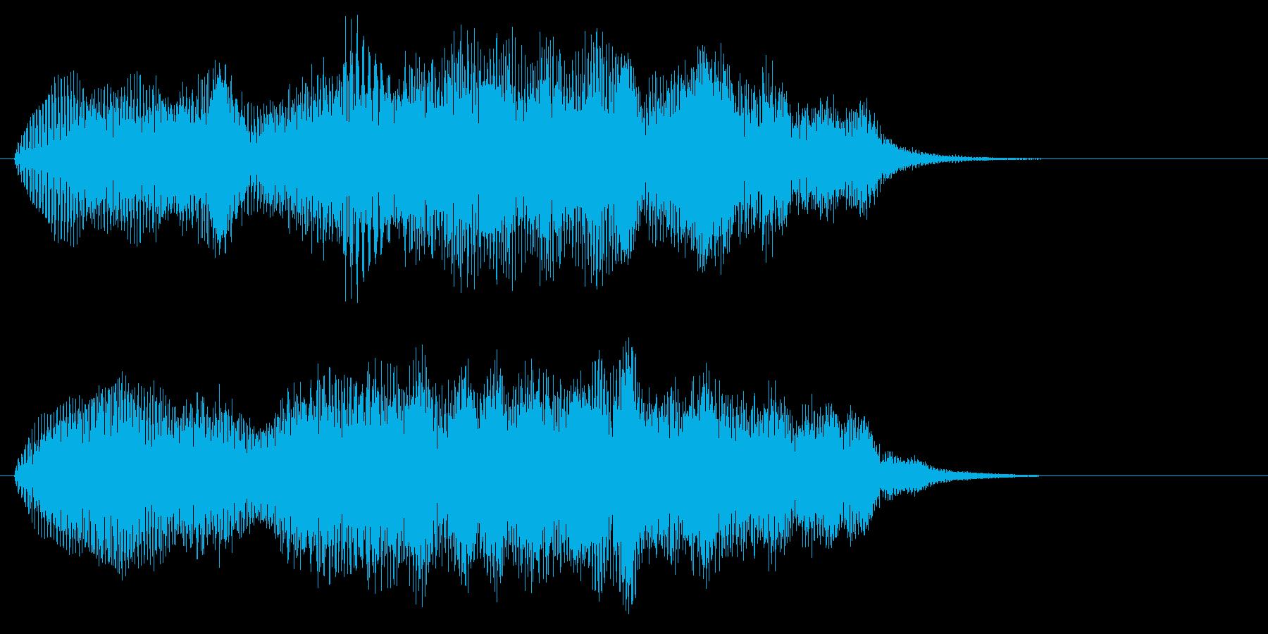 分厚いシンセサイザーのサウンドロゴの再生済みの波形