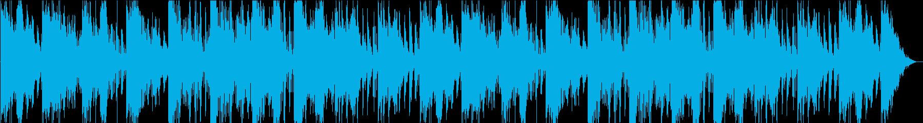 不思議な重く緊迫感のあるオーケストラの再生済みの波形