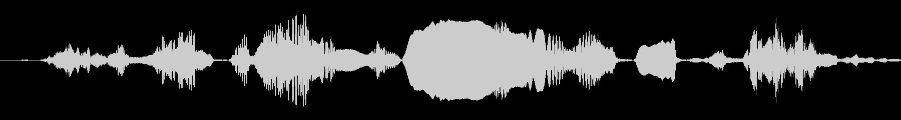 ギボンのグループ:絶え間ない呼び出...の未再生の波形