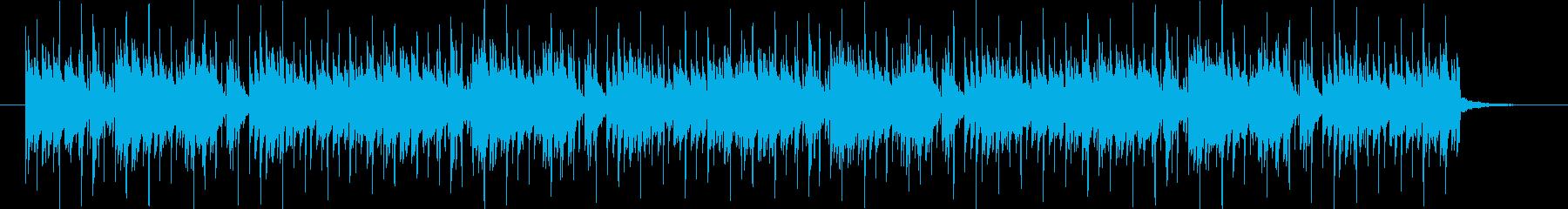 スピード感のある軽快なピアノBGMの再生済みの波形