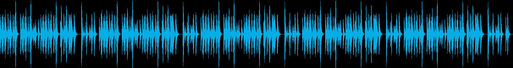 まったりほのぼの和風マリンバの再生済みの波形