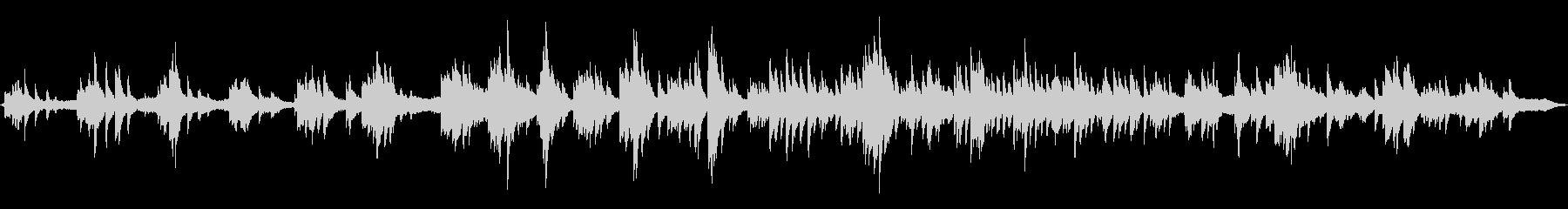 ピアノと波音の未再生の波形