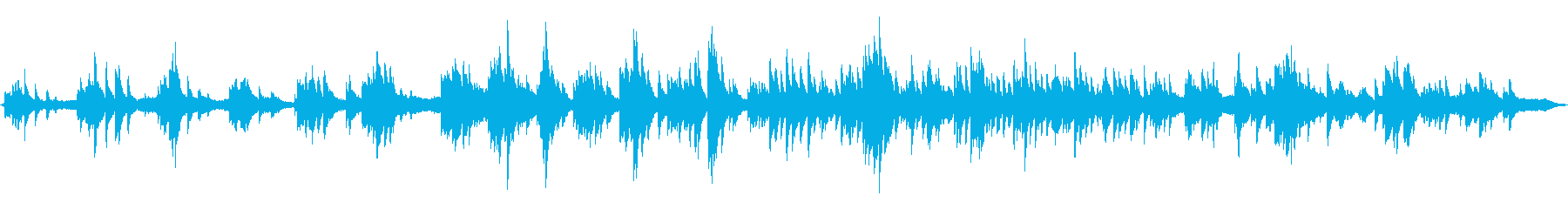 ピアノと波音の再生済みの波形