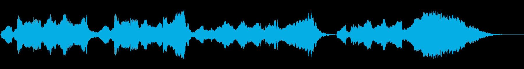 悲しい雰囲気のハッピーバースデーの再生済みの波形
