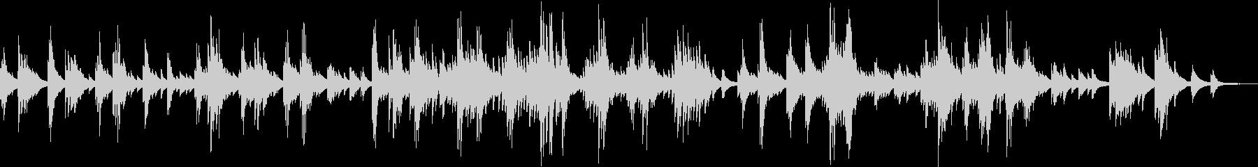 優しくて切ない、感動的なピアノバラードの未再生の波形