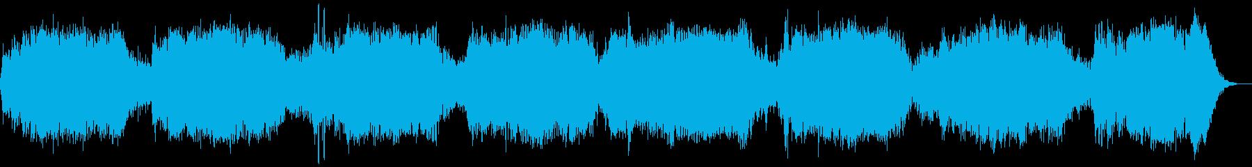 ホラー風BGM 14の再生済みの波形