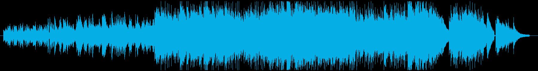 優しく清々しいメロディの癒しBGMの再生済みの波形