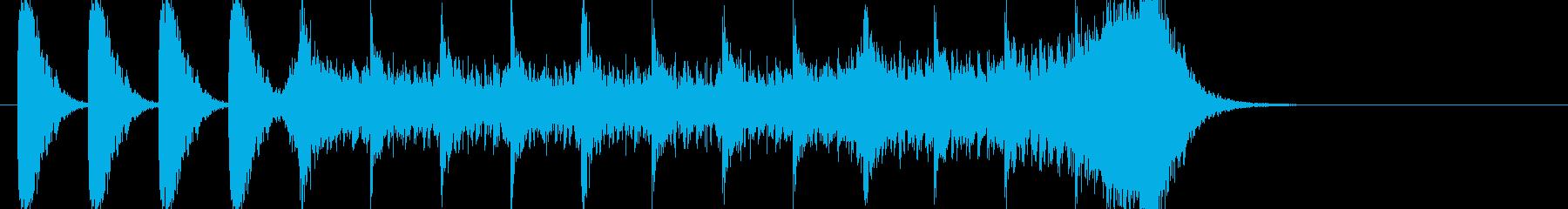 ストリングスメインの映画予告風BGMの再生済みの波形
