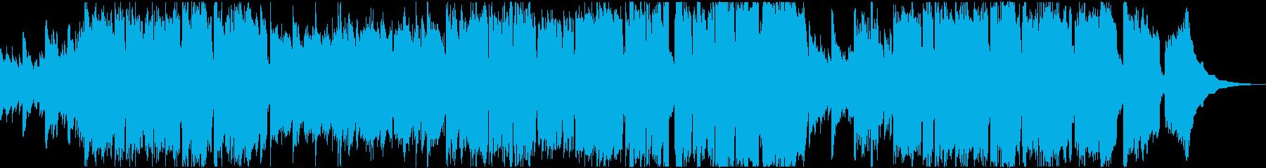 ゆっくり穏やかなケルト系の曲の再生済みの波形