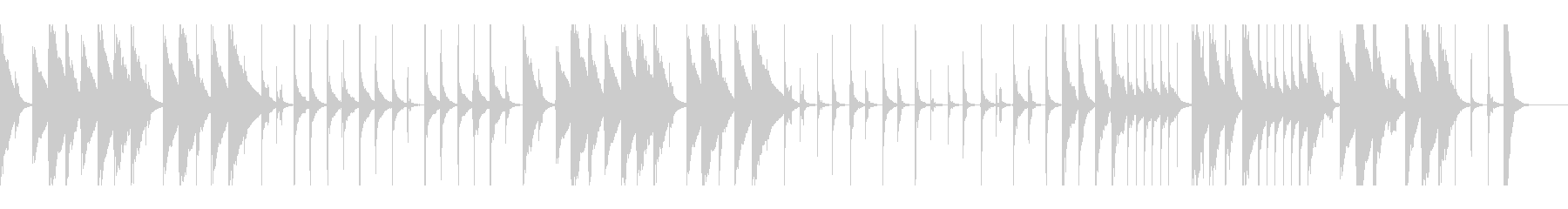 おとぼけ コミカルで明るい ループ仕様の未再生の波形