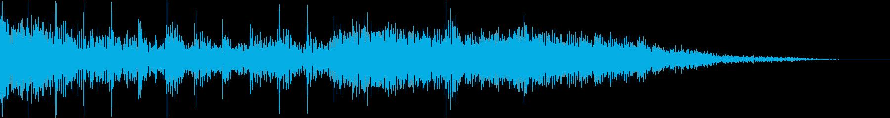 メタル風のギター早弾きジングルの再生済みの波形