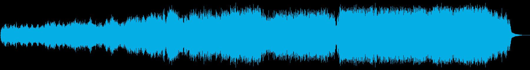 浮遊感と疾走感・重厚感あるBGMの再生済みの波形