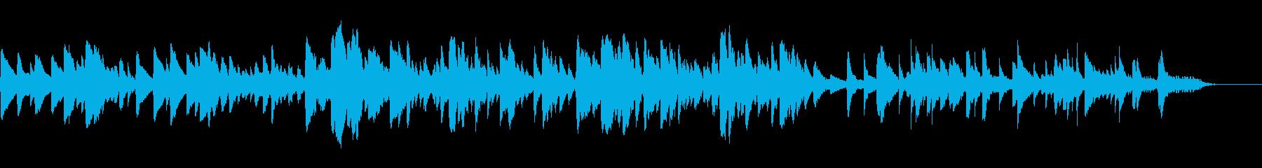 可愛らしく柔らかい雰囲気のBGMの再生済みの波形