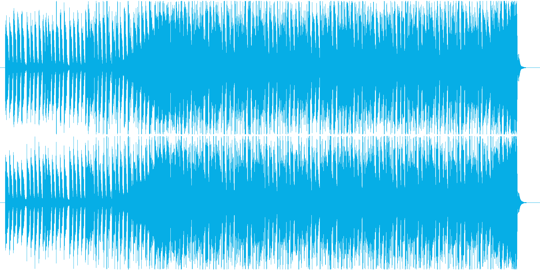 お洒落でカッコいいオープニングSEの再生済みの波形