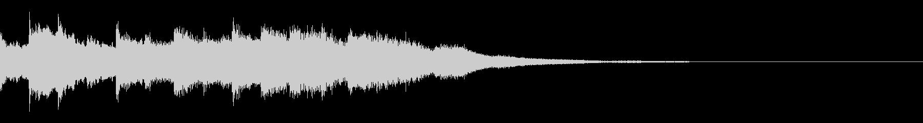 キラキラしたジングル(モノラル)の未再生の波形
