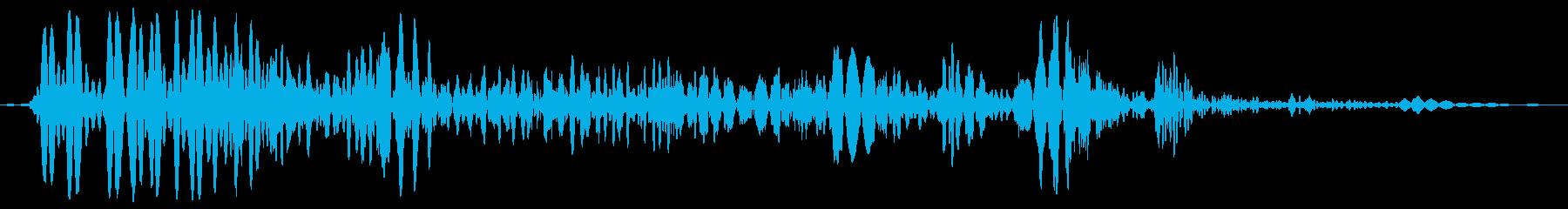 水中で息を吐く(水の中のこもった音)の再生済みの波形